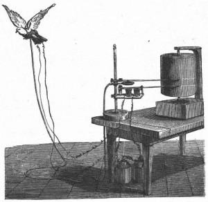 Machine à mesurer le vol d'un oiseau, Étienne-Jules Marey